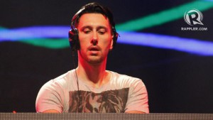 'TIL THE SUN COMES. On his first time in Asia, DJ Cedric Gervais offered Manila with body-pumping music during the last few hours of the party. Photo by Stephen Pedroza
